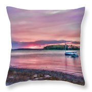 Surreal Sunset Throw Pillow