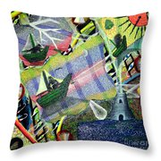 Surrealism Of The Souls Throw Pillow