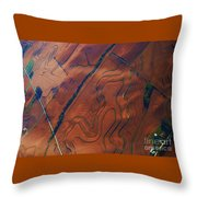 Surrealism Over The Plains Throw Pillow