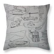 Surrealist Man And Woman Throw Pillow