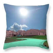Surrender To The Grid  Throw Pillow