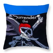Surrenderthe Booty Flag Throw Pillow