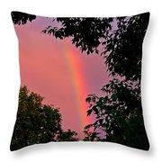 Surround The Rainbow Throw Pillow by Amanda Struz