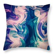 Surrounded By An Aura Of Love Throw Pillow