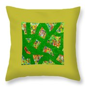 Surrounded By Green Throw Pillow