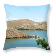 Surrounded By Mountains Throw Pillow