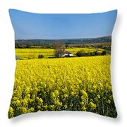 Surrounded By Rapeseed Flowers Throw Pillow
