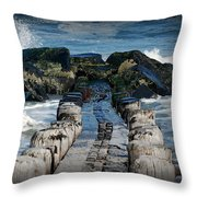 Surrounded By The Ocean - Jersey Shore Throw Pillow