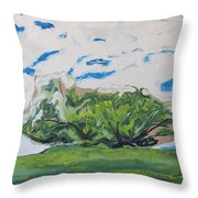 Surrounded With Clouds Throw Pillow