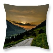 Surselva Valley Throw Pillow