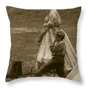 Surveying The Battle Throw Pillow