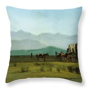 Surveyor's_wagon_in_the_rockies Throw Pillow