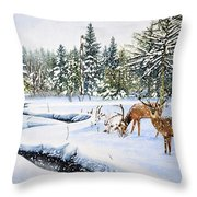 Surviving The Winters Throw Pillow
