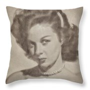 Susan Hayward, Actress Throw Pillow