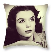 Susan Strasberg, Vintage Actress Throw Pillow