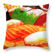 Sushi Plate 1 Throw Pillow