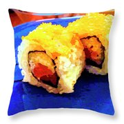 Sushi Plate 3 Throw Pillow