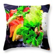 Sushi Plate 5 Throw Pillow
