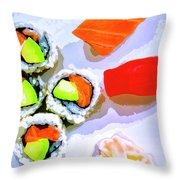 Sushi Plate 6 Throw Pillow