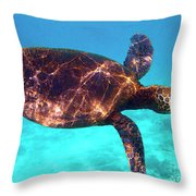 Suspended In Turquoise Throw Pillow