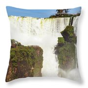 Suspended Land Throw Pillow
