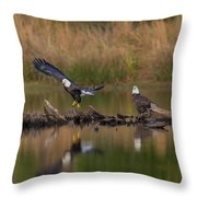 Suspended Time Throw Pillow