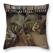 Suspension Of Consciousness Quote Throw Pillow