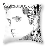 Suspicious Minds Elvis Wordart Throw Pillow