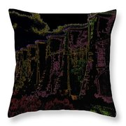 Sutherland Dam Dark  Throw Pillow