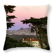 Sutro Heights Park View Throw Pillow