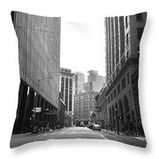 Sutter Street - San Francisco Street View Black And White  Throw Pillow