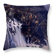 Suvorov Crossing The Alps In 1799 Throw Pillow