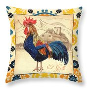 Suzani Rooster 1 Throw Pillow