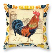 Suzani Rooster 2 Throw Pillow