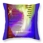 Suzannian Algorithm Finger-painted On An Abstract Wall Number 1 Throw Pillow