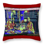 Suzannian Algorithm Finger-painted On An Abstract Wall Number 2 Throw Pillow