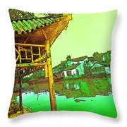 Suzhou Grand Canal Throw Pillow