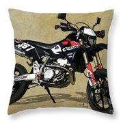 Suzuki Race Motorcycle. 387. Throw Pillow