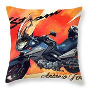 Suzuki Strom 650 Throw Pillow