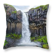 Svartifoss, Iceland Throw Pillow