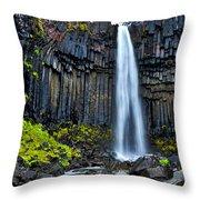 Svartifoss Waterfall - Iceland Throw Pillow