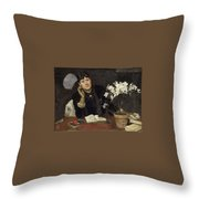 Sven Richard Bergh - The Artist, Julia Beck 1883 Throw Pillow