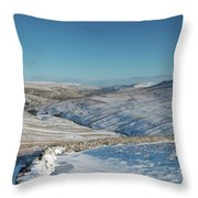 Swaledale In Winter Throw Pillow