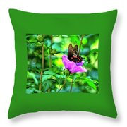 Swallowtail In Flower Throw Pillow