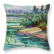 Swallowtail Riverside Throw Pillow