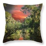 Swamp 1 Throw Pillow