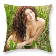 Swamp Beauty Eight Throw Pillow