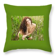 Swamp Beauty Eight Throw Pillow
