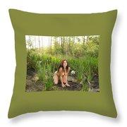 Swamp Beauty Five Throw Pillow