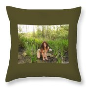 Swamp Beauty Four Throw Pillow